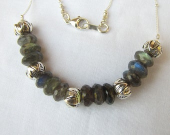 Bella Collection - Shimmering Labradorite necklace
