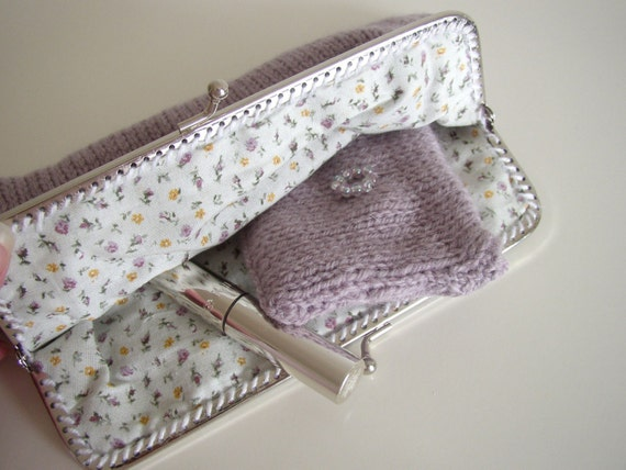 Clutch purse with matching coin purse