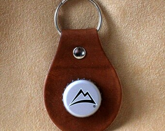 Coors Beer Bottle Cap Leather Key Fob