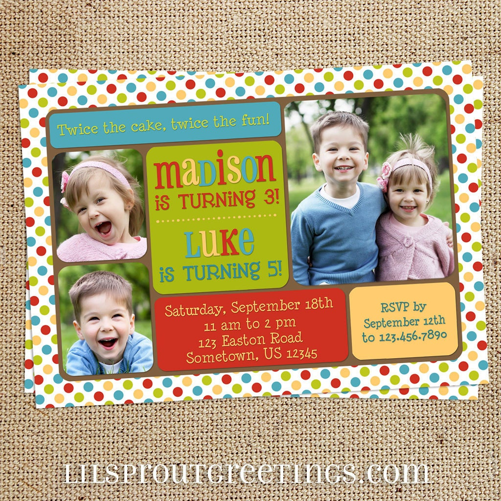 Combined Birthday Party Invitation Wording is best invitations ideas