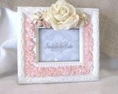 Floral Picture Frame.....Pink Frosting