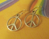 Peace Earrings with Sterling Silver Earwires