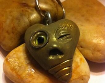 Steampunk Polymer clay key chain