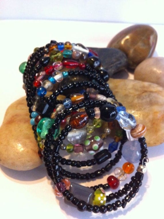 Beaded Wrap Cuff Bracelet... Free Shipping
