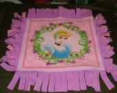 Cinderella mini doggie blanket - 25x28 inchs
