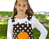 CherryLane Boutique Custom Fall Pumpkin A line Top for Halloween or Thanksgiving