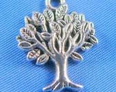 Silver Tree Charm Pendant Tree of Life  - 10