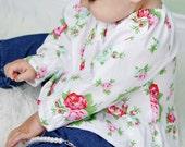 Children Clothing Pattern - Baby Toddler Peasant Top PDF - Long sleeves or short - Tie Dye Diva PDF Pattern