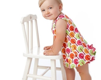 Baby Girl Sewing Pattern PDF Reversible Dress with Open Back - Handmade Pattern