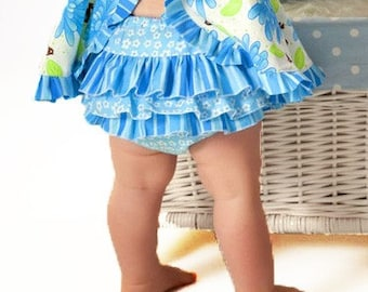 Pattern for Baby Clothes - How to Sew Ruffled Diaper Cover for Baby - Sewing Pattern PDF