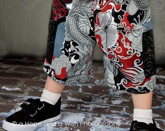 Boys Shorts Sewing Pattern - Board Shorts Cargo Shorts Pattern Printable PDF