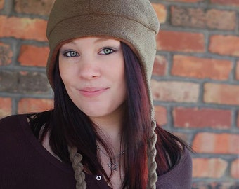 Earflap hat pattern PDF - and Chinstrap Hat Pattern - adult sizes sewing pattern