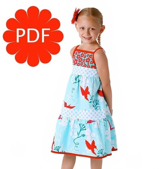 How to Make a Flouncy Tiered Jumper Dress or Sundress PDF Pattern and Instructions