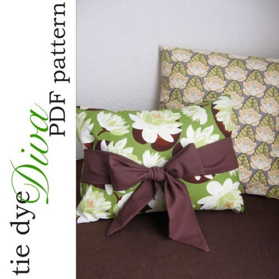 Throw Pillow Cover Pattern With Zipper : How to Sew Easy No-Zipper Throw Pillow Covers PDF by tiedyediva