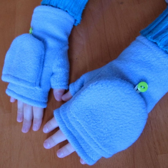 Our Convertible Mittens are a 2-in-1 Mitten or Fingerless Glove.