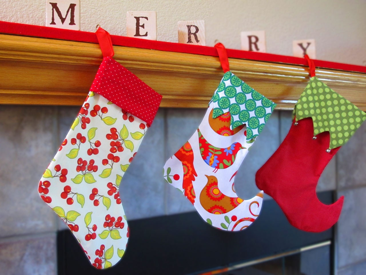 Stocking Sewing Pattern 2 Styles 2 Sizes Elf And By Tiedyediva