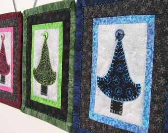 Blue and Black Tree Quilt
