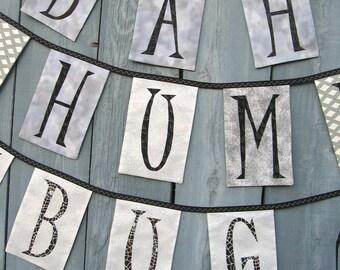 Silver BAH, HUMBUG Bunting