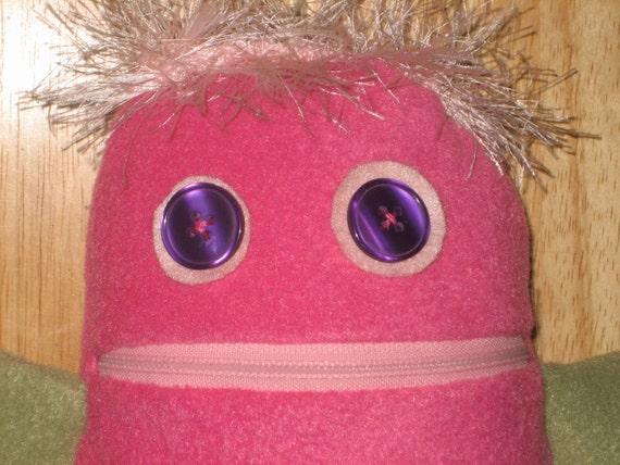 Pink Monster Plushie
