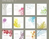 2012 Botanical Desk Calendar SALE