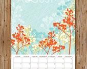 2012 Flora & Fauna Wall Art Calendar