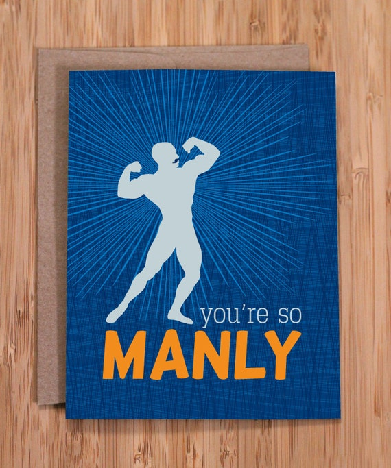Funny Birthday Card / Manly / For Him By ModernPrintedMatter