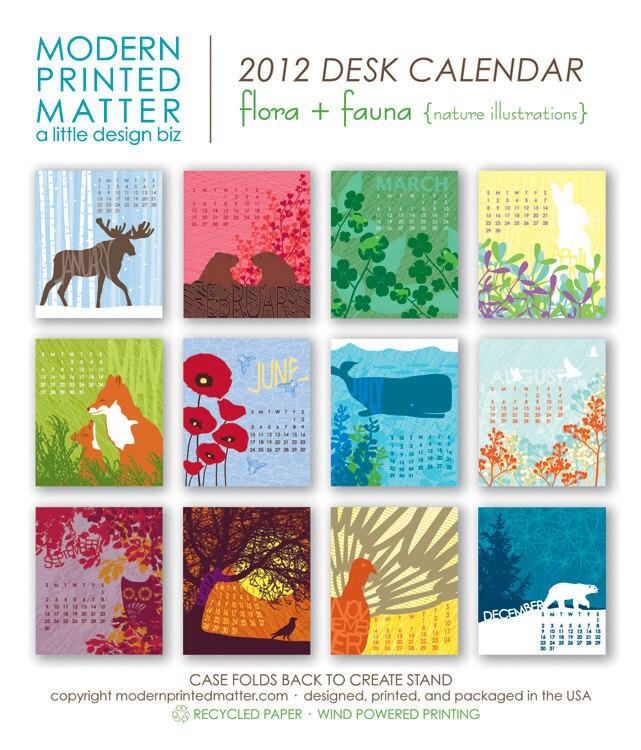 2012 Flora Amp Fauna Desk Calendar Sale