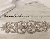 Dazzling NEW version -  vintage inspired swarovski crystal wedding sash - CC017