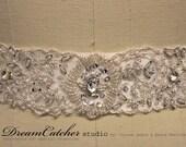 Ewelina All beded delicate royal inspired bridal belt, wedding sash