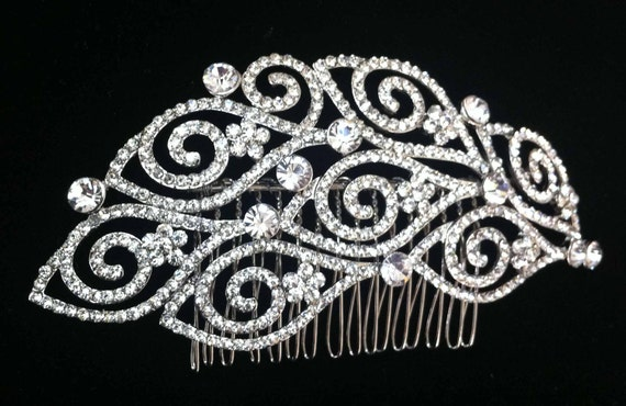 Gweneth crystal hair comb, bridal hair piece