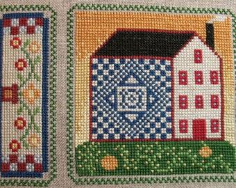 Cross Stitch Chart Blue Worke House 5 Quilty Neighborhood Series PDF Pattern FAAP