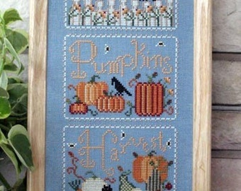 Cross Stitch Chart Pumpkins and Crows