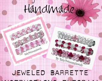 Boutique Jeweled French Barrette And Alligator Clip Instructions Tutorial