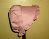 Sunbonnet Baby Bonnet Mauve 3 - 15 months 11USD