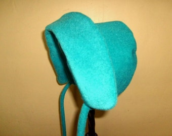 Winter Bonnet Baby Teal Princess 3 to 15 months 17USD