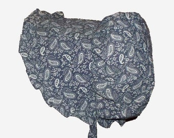 Sunbonnet Blue Denim Paisley 2T - 5T 11USD