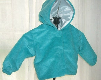 Jacket Baby 6 months Light Lined Jacket Plush Teal