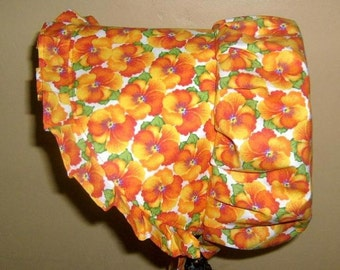 Sunbonnet Orange Missy 6 to 10 years Piping Pansies 12.50USD