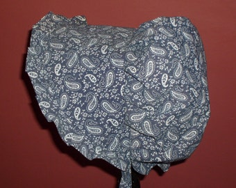Sunbonnet Blue Denim Paisley Missy 6 to 10 years 12.50USD