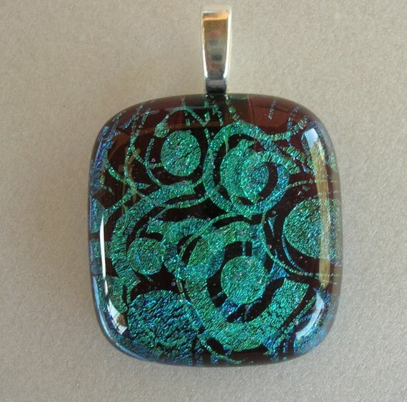 Circle Of Life Fused Dichroic Glass Pendant