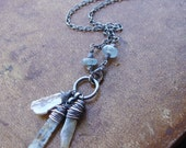 Kyanite and Pearl Sterling Necklace