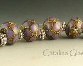 SRA Handmade Lampwork Beads by Catalina Glass  6 Dragon Scales