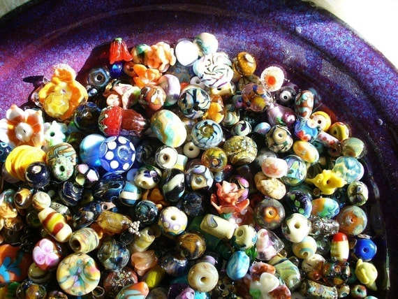 Bead Bowl Special 10 Lampwork Beads by Catalina Glass