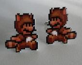SALE wanna buy a squirrel - super mario 3 tanooki cufflinks