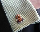 CUFFLINK SALE bowser - mario kart cufflinks