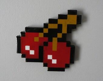 pixels jubilee - pixelated cherry wall art
