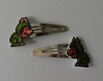 crambone - super mario 3 frog mario barrettes
