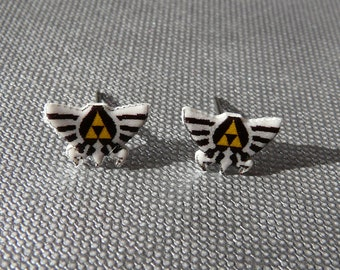 SALE may the (tri) force be with you - zelda earrings