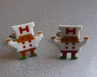 SALE fry guy - burger time cufflinks