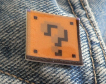 SALE a paradox - super mario question block pin